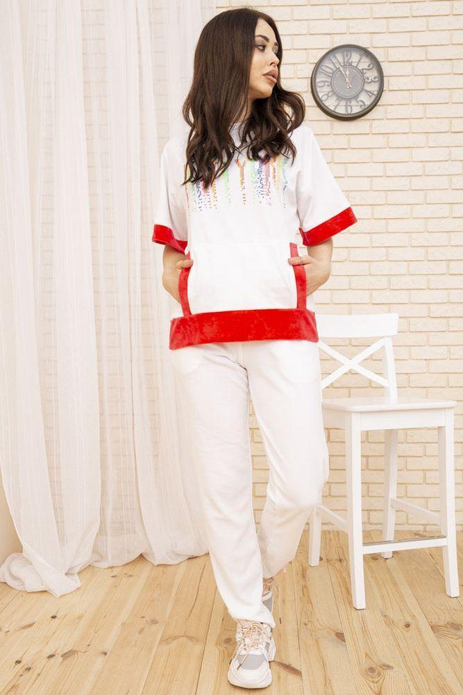 Костюм женский 167R21-2 цвет Бело-розовый