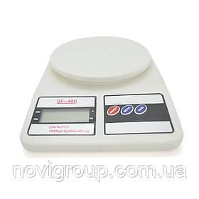 Ваги кухонні побутові, SF-400,0,001-5 кг, корпус пластик, живлення 2 батареї АА (в комплекті)