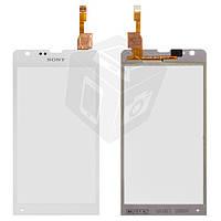 Touchscreen (сенсорный экран) для Sony Xperia SP C5302/C5303, оригинал (белый)