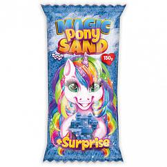 """Кінетичний пісок """"Magic Pony Sand"""" Danko Toys MPS-01 рус, 150 г (Синій)"""