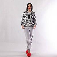 NEW! Стильні жіночі махрові піжами - серія 21028 Єнотики вельсофт ТМ УКРТРИКОТАЖ!