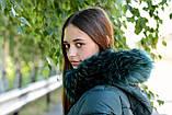 Куртка жіноча зелена зимова код П338, фото 4