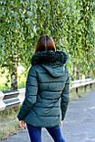 Куртка жіноча зелена зимова код П338, фото 6