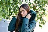 Куртка жіноча зелена зимова код П338, фото 7