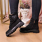 Черевики жіночі Fashion Elmo 2267 36 розмір, 23,5 см Чорний, фото 4