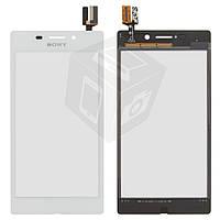 Touchscreen (сенсорный экран) для Sony Xperia M2 Aqua D2403, оригинал (белый)