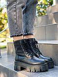 Женские ботинки ДЕМИ черные на шнуровке натуральная кожа весна/ осень, фото 6