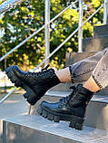Женские ботинки ДЕМИ черные на шнуровке натуральная кожа весна/ осень, фото 4