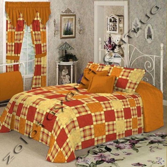 Комплект постельного белья из бязи Голд двуспальный Шотланка коричневая