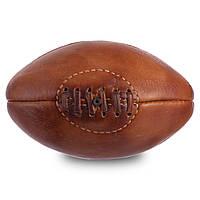 Мяч для регби сувенирный VINTAGE Mini Rugby ball F-0266