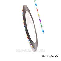 Самоклеящаяся лента для дизайна ногтей (0.8 мм)   BZH-02C
