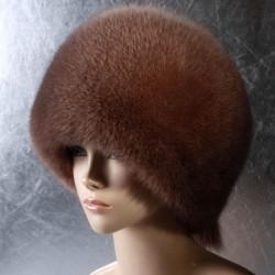 Женская меховая шапка «Шарик» из песца