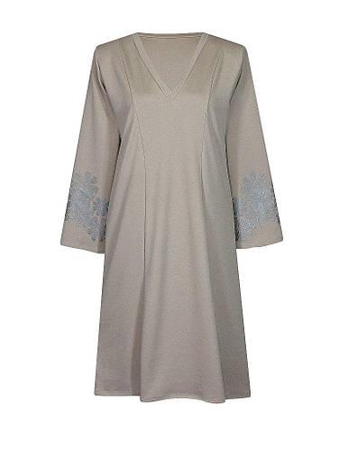Платье с треугольным вырезом Метелица