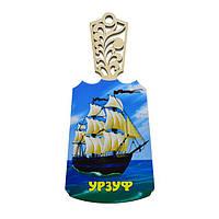 Доска разделочная Урзуф - Корабль с 2мя флагами
