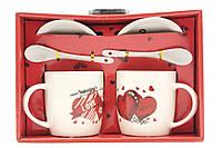 Набор керамических чашек в красивой подарочной коробке, фото 1