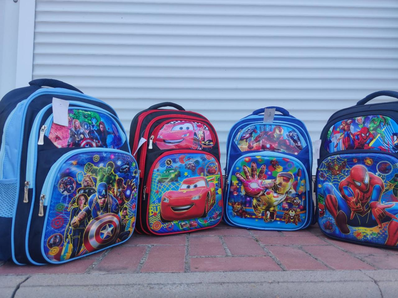 Рюкзак шкільний з 3D малюнком СУПЕРГЕРОЇВ