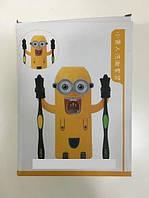 Дозатор зубної пасти Міньйон тримач для зубних щіток, фото 1
