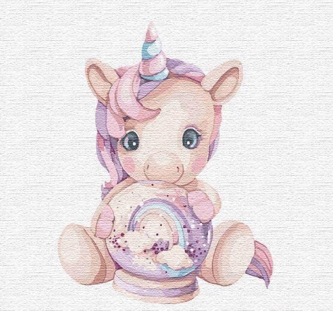 Картина для малювання за номерами Рожевий єдиноріг 30 х 30 см