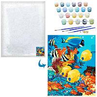 Картина для малювання за номерами Тропічні рибки 40 х 50 см