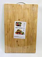 Доска разделочная бамбуковая крепкая, 60 х 40 см, толщина 2 см