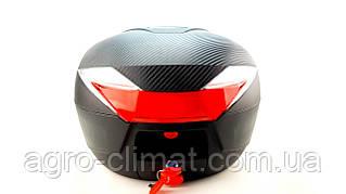 Кофр для мотоцикла (багажник) HF-819 чорний мат