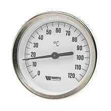 Термометр біметалічний ф80 мм 50 мм гільза 120 З Watts (Німеччина)