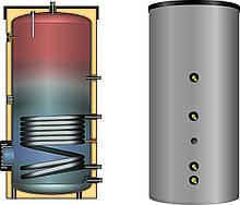 Бойлер непрямого нагріву води 150л з 1-м змійовиком EBS-PU 150 Meibes - Huch(Німеччина) і з незнімної ізоляцією