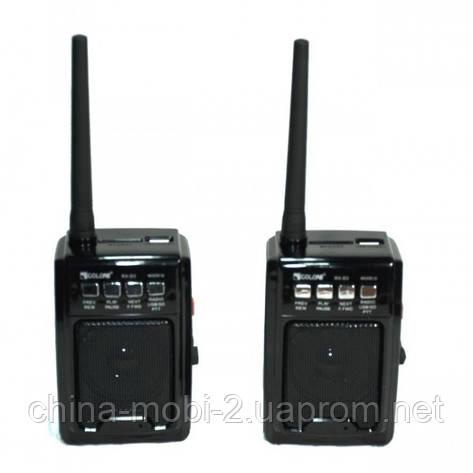 Комплект раций PTT с FM приемником, GOLON RX-D3  MP3 USB SD FM рация , фото 2