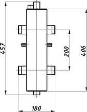 Гидрострелка ГС-26 без ізоляції (Гідравлічний роздільник) Termojet
