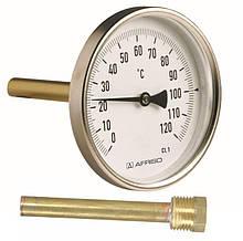 """Термометр осьової Ф100 1/2"""" з гільзою 100мм Afriso (Німеччина)"""