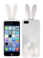 """Силиконовый чехол """"Зайчик Rabito"""" iphone 5/5s белый, фото 1"""