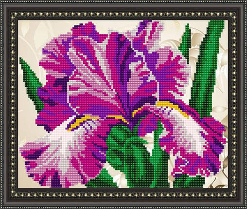 """Рисунок на ткани для вышивания бисером """"Ирис"""", фото 2"""