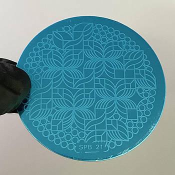 Пластина для стемпинга (круглая)  SPB 21