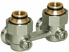 Узел нижнего подключения для радиаторов с наружной резьбой 3/4' Basicline (Rossweiner) (Угловой)