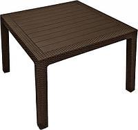 Стол садовый уличный Keter Melody Quartet Brown ( коричневый ) из искусственного ротанга
