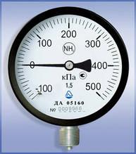 Мановакууметр ДА 05100  -100 кПа +500 кПа класс 1,5(2,5)