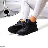 Высокие женские кроссовки- хайтопы черные эко кожа, фото 3
