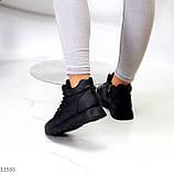 Высокие женские кроссовки- хайтопы черные эко кожа, фото 7