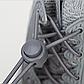 Шнурки еластичні з фіксаторами Гумові шнурки для взуття / кросівок зі швидкою застібкою. Колір білий, фото 3