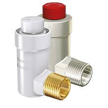 """Воздухоотводчик 1/2"""" угловой белый глянец  для радиаторов суперкомпактный Flexvent H FLAMCO (Голландия)"""