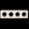 Рамка четверная для розетки или выключателя Gunsan Visage бежевая
