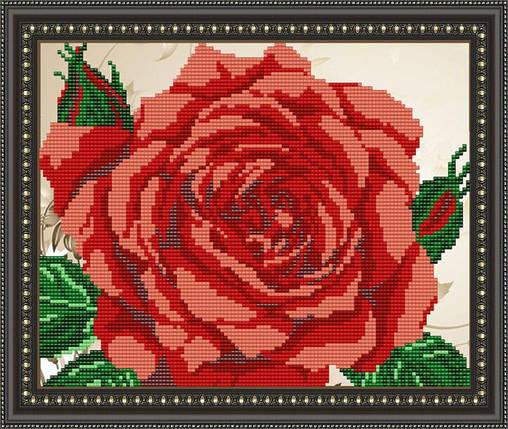 """Рисунок на ткани для вышивания бисером """"Роза"""", фото 2"""