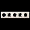 Рамка пятерная для розетки или выключателя Gunsan Visage бежевая