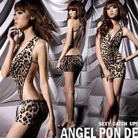 Леопардовое эротическое бельё