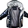 Осенние детские курточки для мальчиков блестящие размер 80-92, фото 5