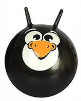 Детский мяч для фитнеса. Фитбол MS 0483-2 с рожками Черный