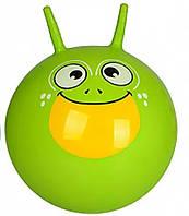 Мяч для фитнеса MS 0484-2 с рожками (Зеленый)