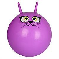 Мяч для фитнеса MS 0484-2 с рожками (Фиолетовый)