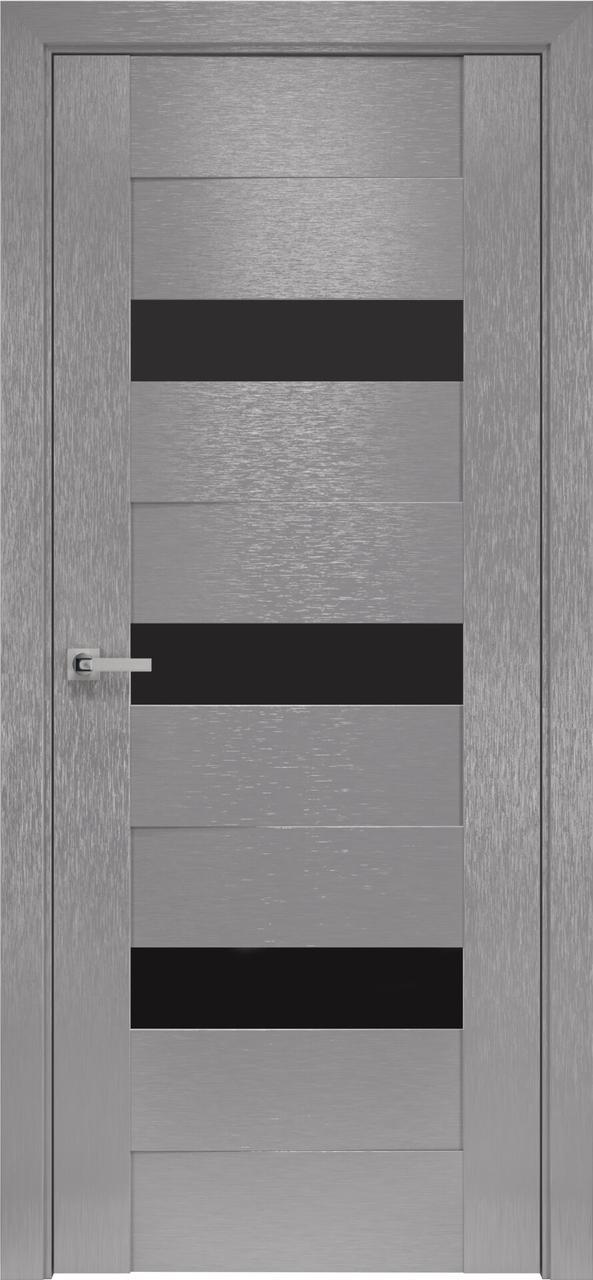Дверне полотно Орни-х Вена 80 п/о х-хром+ BLK (вітрина)