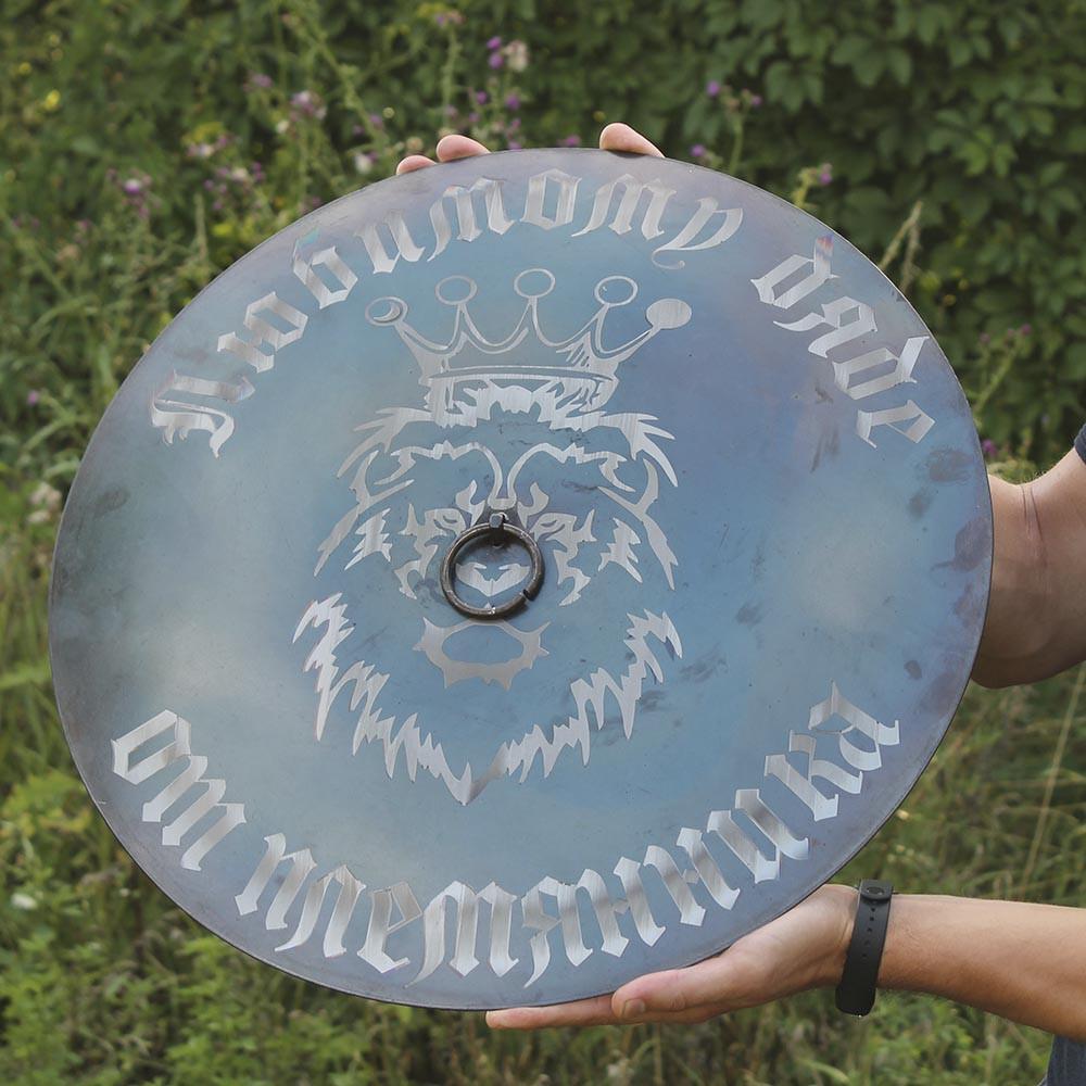 Гравіювання на кришку 50см для сковороды из диска